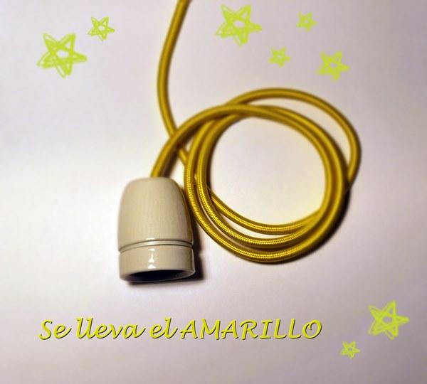 cable amarillo casquillo ceramico estrellas