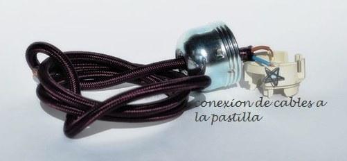 conexión de casquillo a la luz