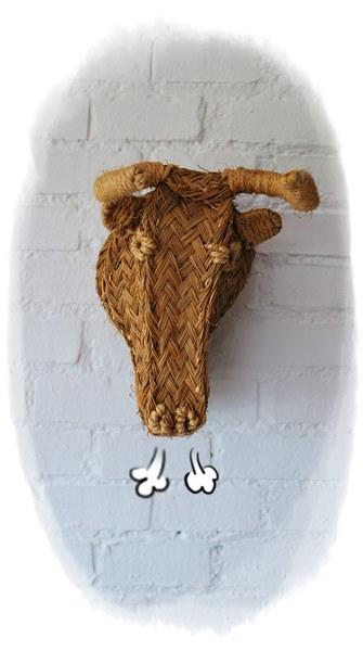 cabeza toro artesanal esparto
