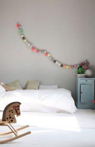 guirnaldas luces bolitas algodon multicolor
