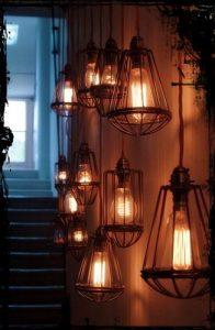 bombillas filamento jaula metal