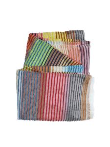 colcha rayas sabra multicolor pastel