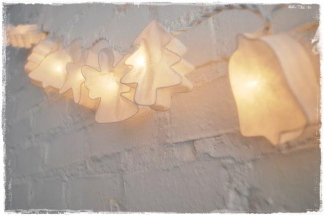 Guirnalda de luces navidad iluminoteca Luces navidad exterior sin enchufe