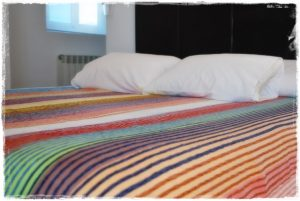 plaid multicolor tonos tiza King size 3mts x 2mts