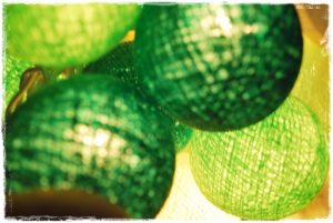 guirnalda luces verdes