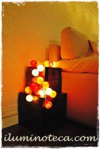 guirnaldas luces naranjas iluminoteca