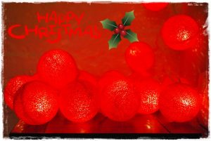 guirnalda naranja feliz navidad