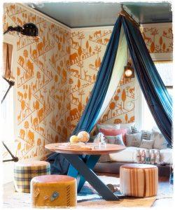 decoracion naranja tee pee