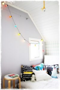 guirnalda luces feria colores habitacion