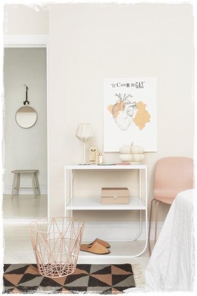 habitacion niña rosa gris