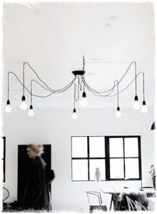 lampara bombillas salon