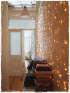 luces navidad pasillo