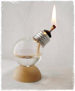 bombilla lampara aceite