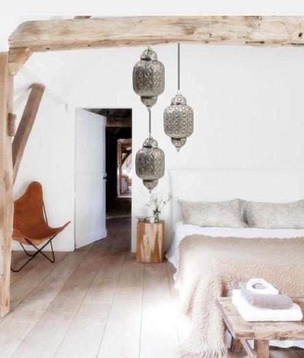faroles_arabes_dormitorio_madera