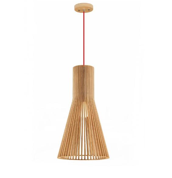 Lamparas de madera colgantes lmpara colgante de madera mdf cm de dimetro lmpara de techo nakai - Lamparas colgantes de madera ...