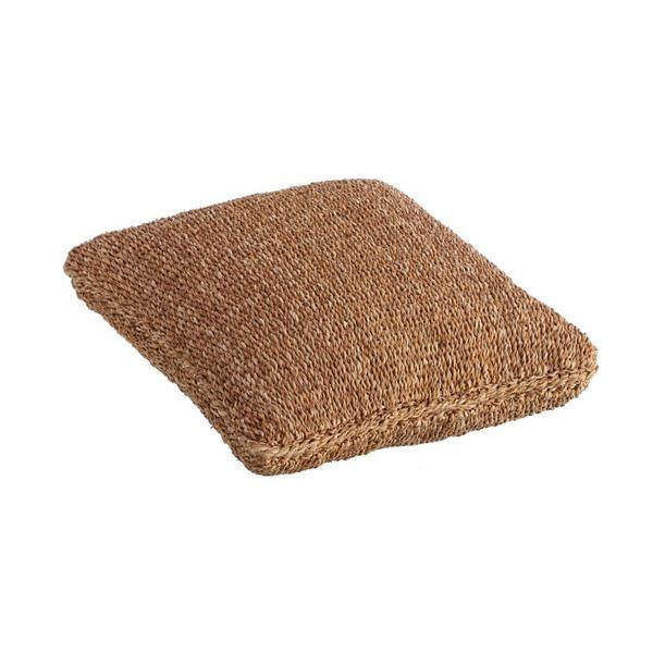Coj n de suelo en fibras vegetales de coco junco y - Cojin cuadrado suelo ...