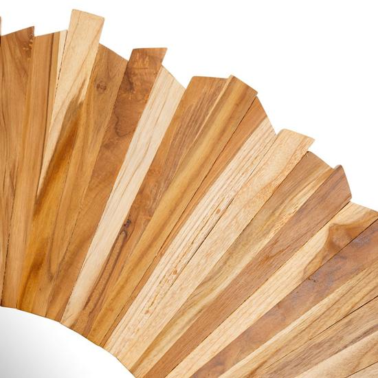 Espejo redondo en madera de teca iluminoteca for Espejos de madera redondos