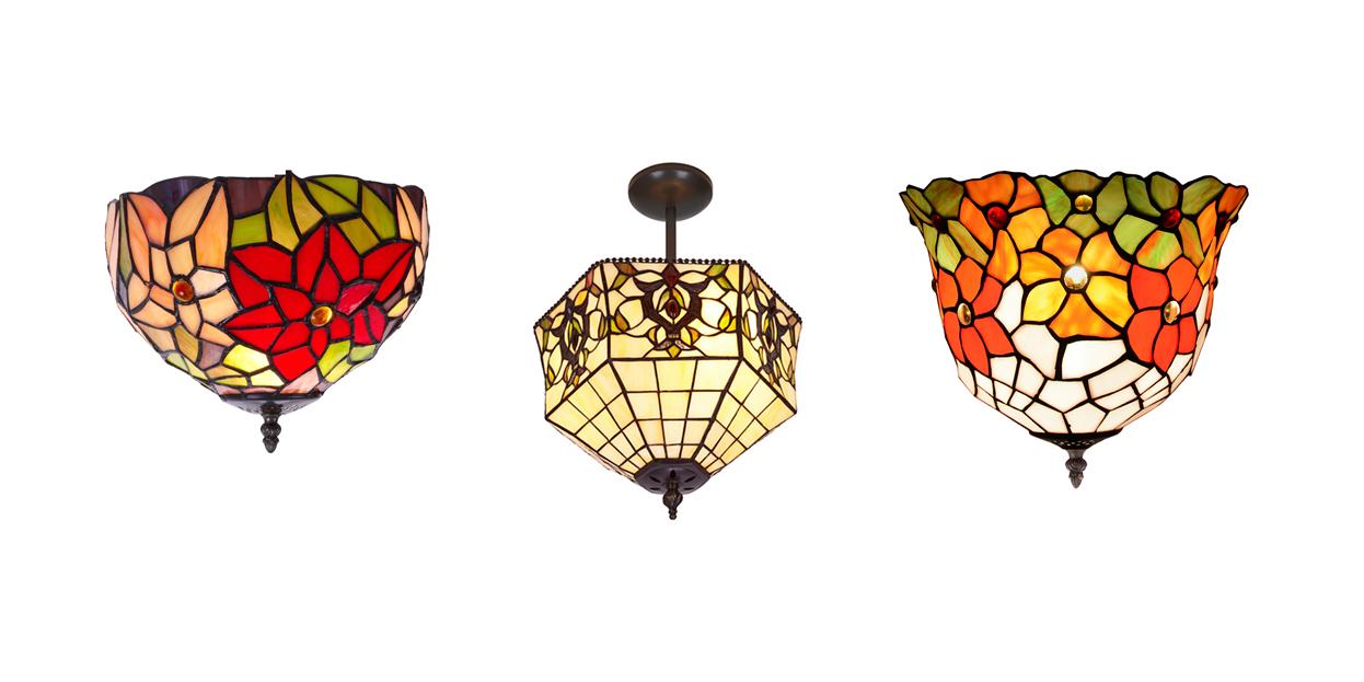 Lámparas de cristal tiffany, el toque de color | Iluminoteca
