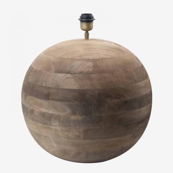 a tiras Lámpara madera mesa bola N0nkXw8PO