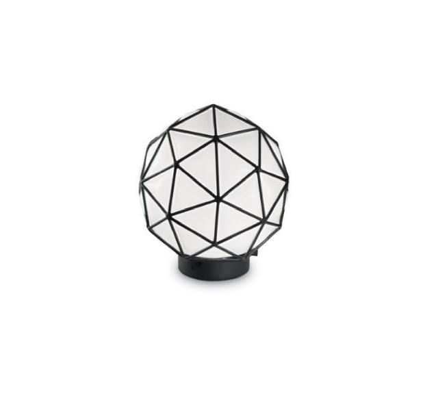 MAGLIE geométrica vidrio Lámpara metal mesa tsrhdQ